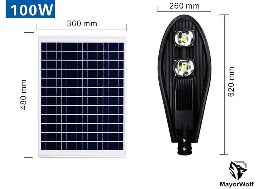 Đèn lá năng lượng mặt trời 100W
