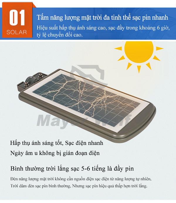 Đèn năng lượng măt trời liền thể 20W