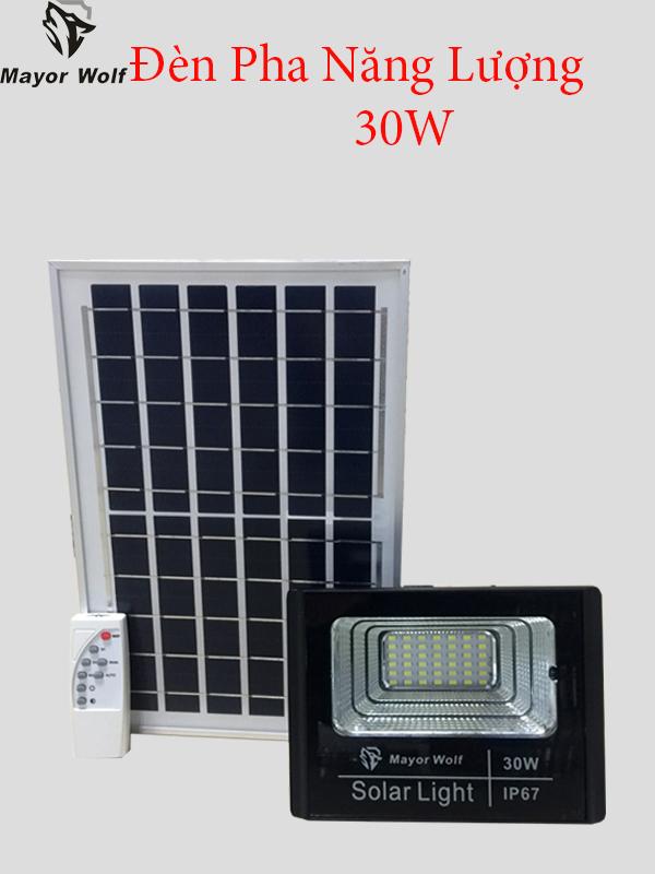 Đèn pha năng lượng mặt trời 30 W