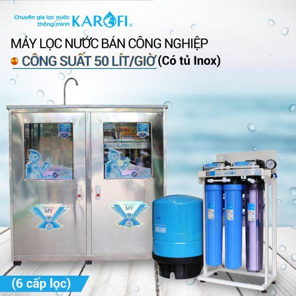 may loc nuoc ro ban cong nghiep karofi kb50 tu inox 6 cap loc 0 1570243264