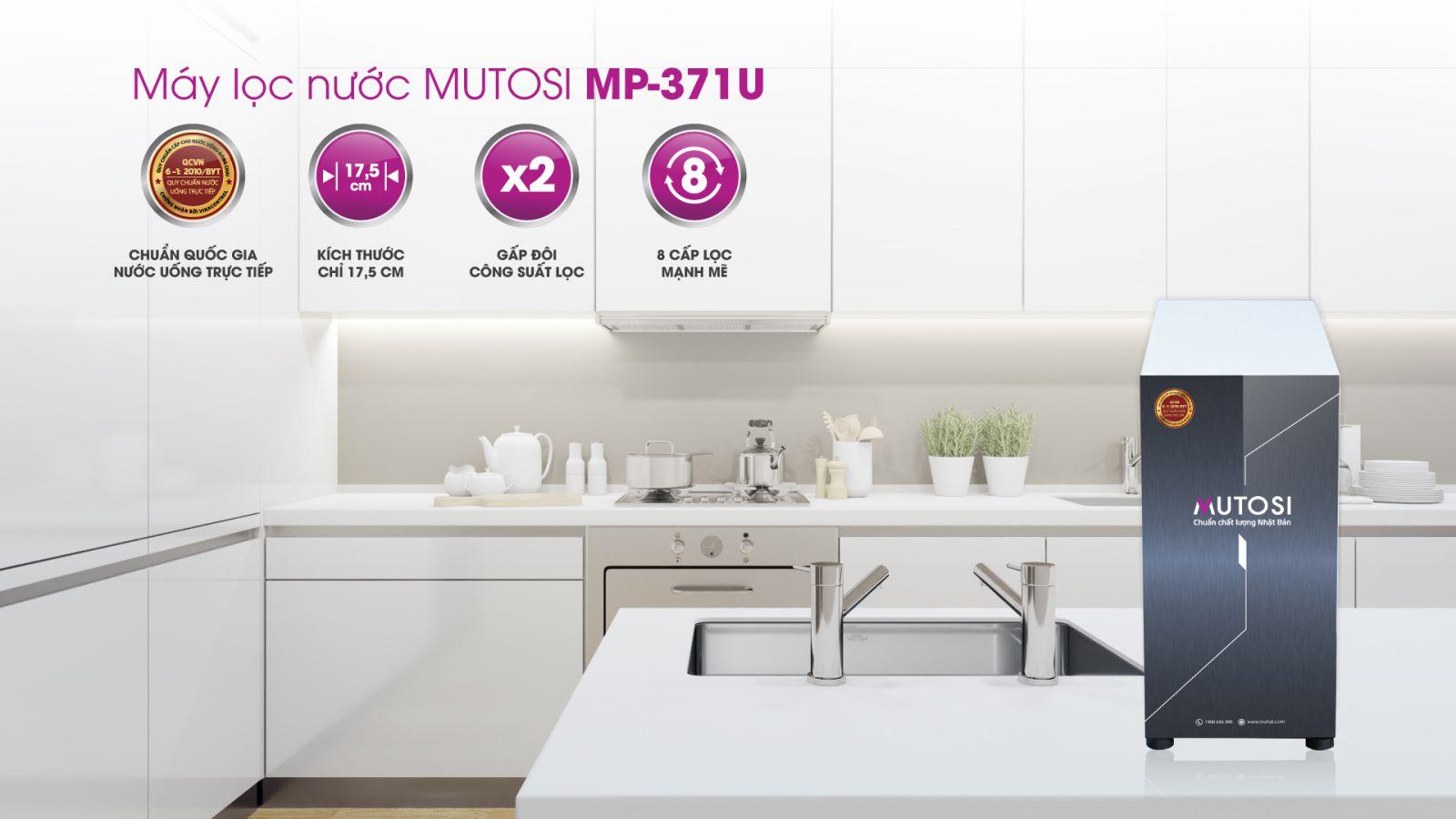 Máy lọc nước để gầm, Tủ bếp 7 lõi Mutosi MP-371U