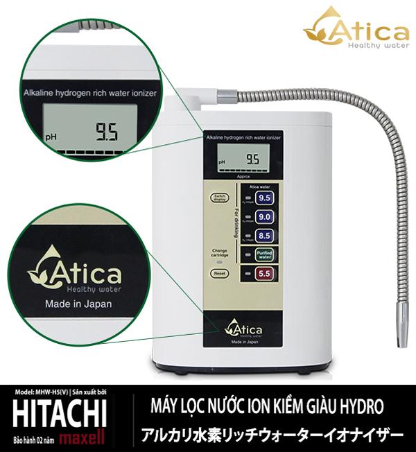 Máy lọc nước ion kiềm giàu hydro Atica MHW-H5(V)