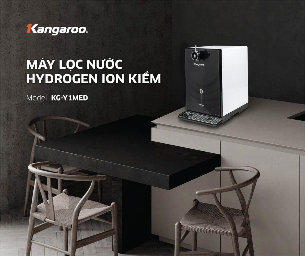Máy lọc nước Hydrogen ion kiềm Kangaroo Model KG-Y1MED