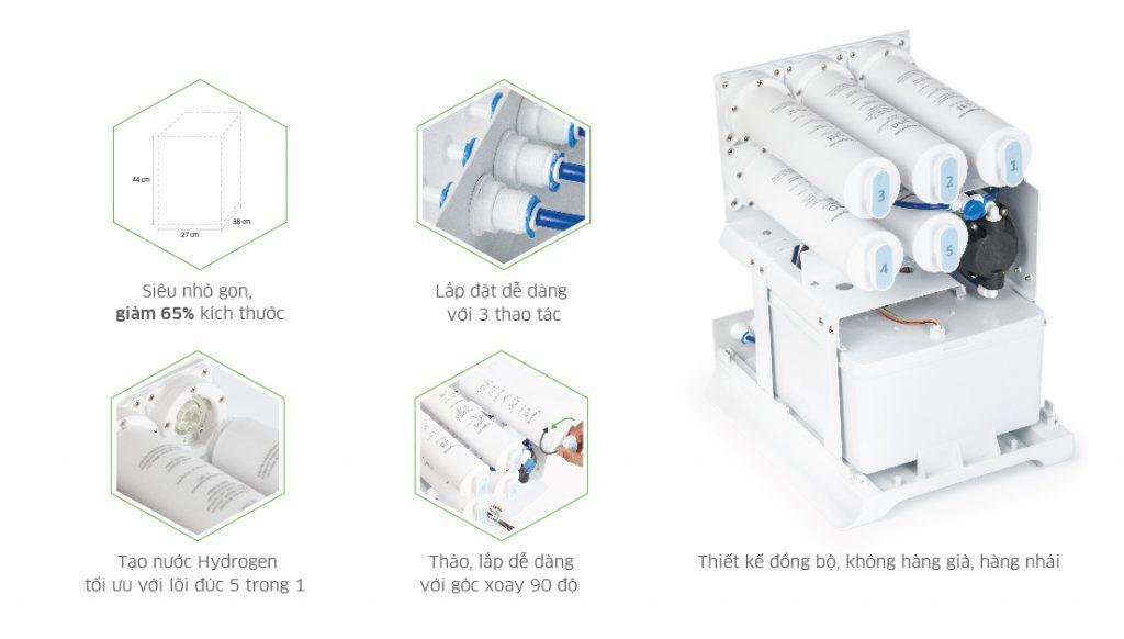 Hệ thống kết nối nhanh đồng bộ, lắp đặt 3 bước