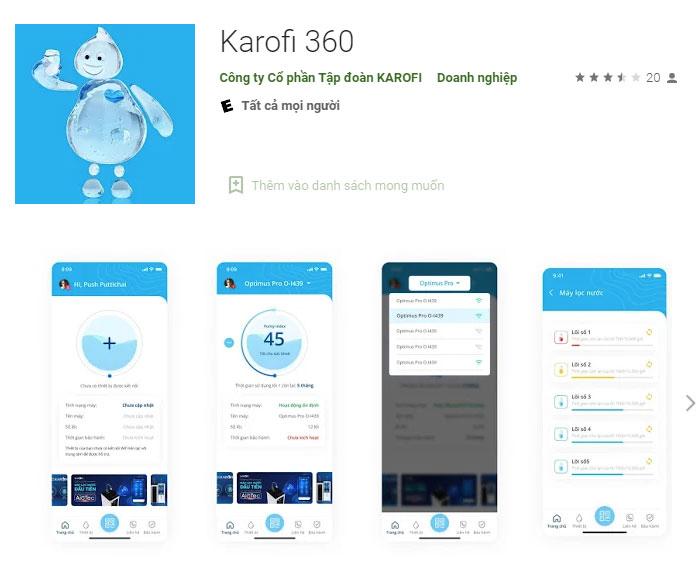 Cách kết nối máy lọc nước Karofi với ứng dụng Karofi 360