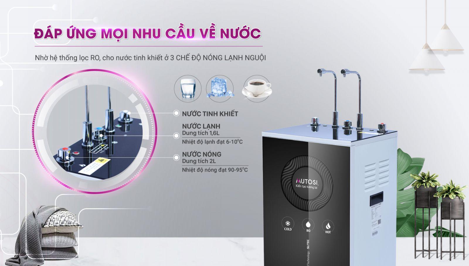 Máy lọc nước Nóng Lạnh Nguội 10 lõi MP-C102-MHC