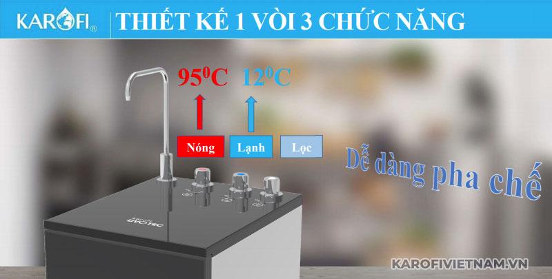Máy lọc nước nóng lạnh Karofi Livotec 611